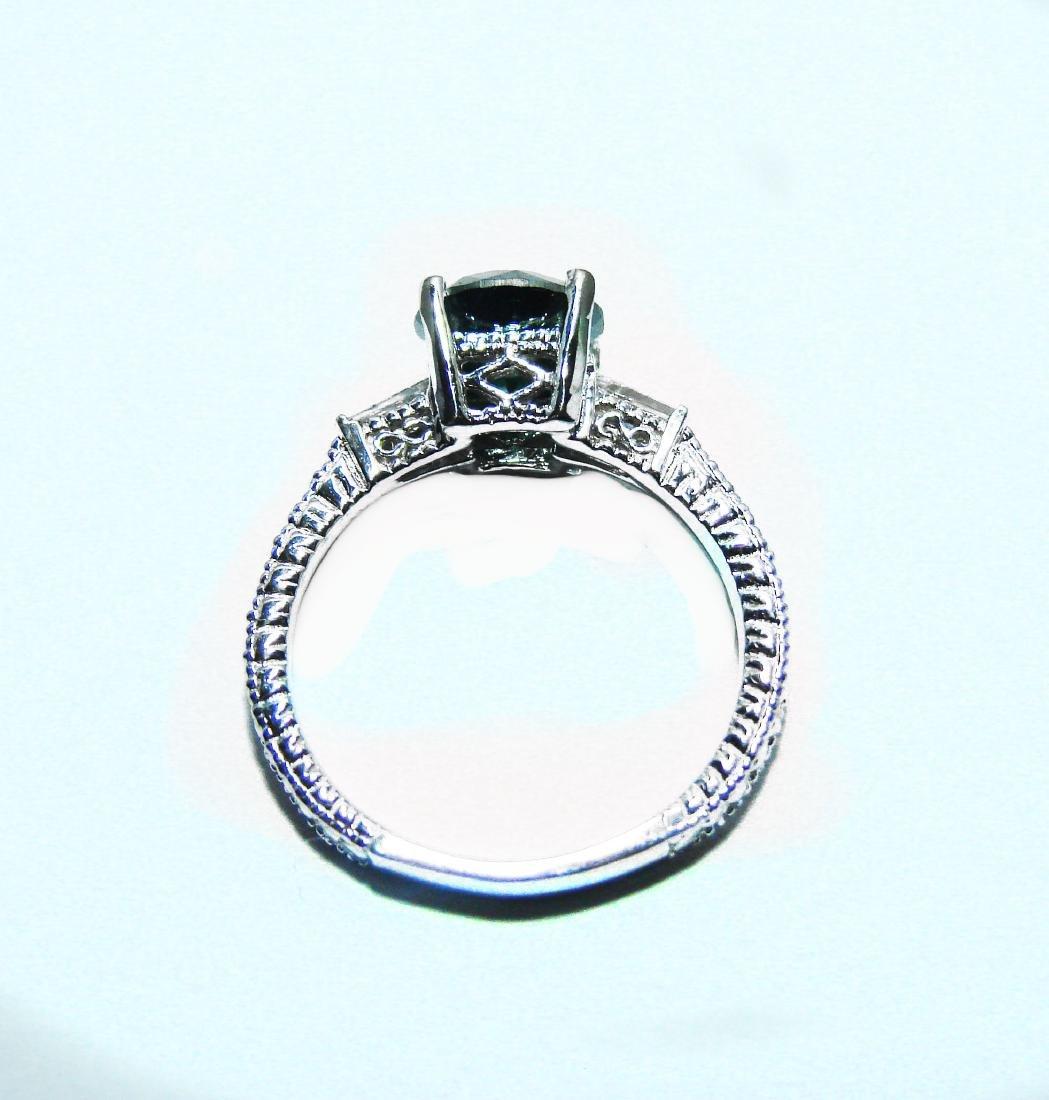 Enhanced Blue Diamond Ring 1.81 Carat 14k W/g - 4