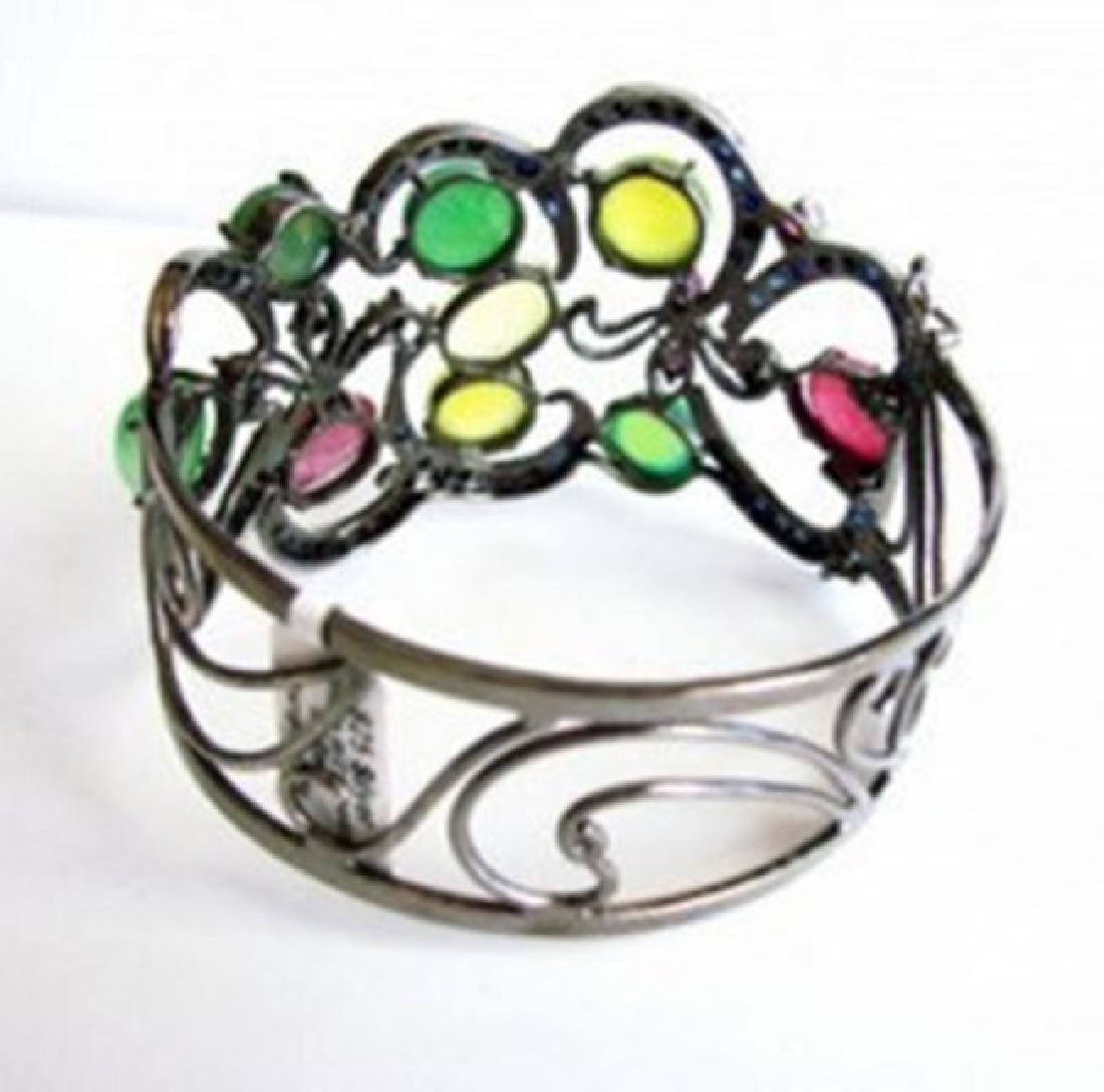 Bangle Natural Gems Multicolor 58.62Ct 18k B/g Overlay - 6