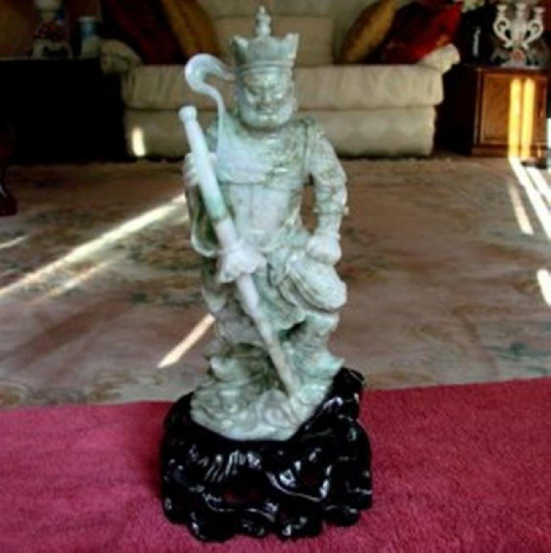19th Century Jade Carving Famous Dragon Gong Guanyu