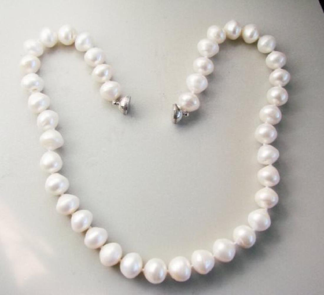 "Beautiful Culture Pearl 11mm Necklace 17"" - 2"