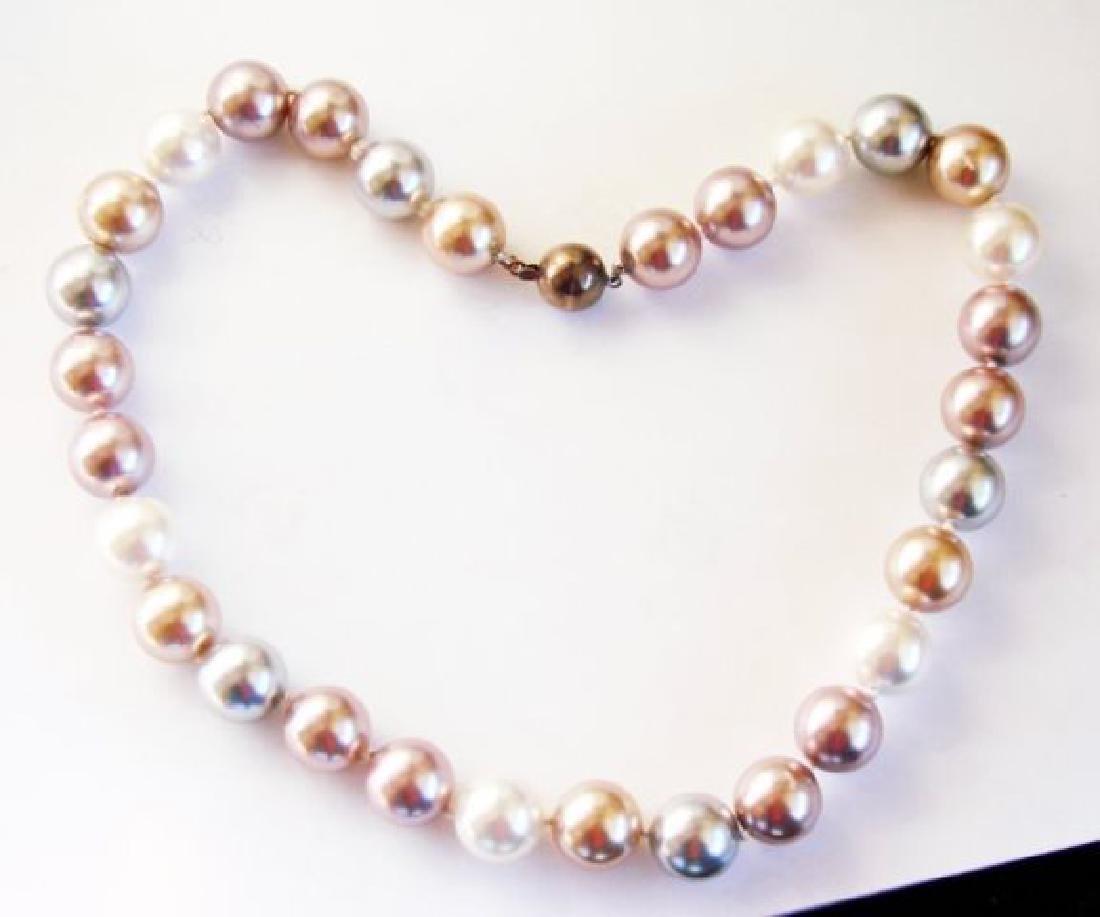 Necklace Multicolor Swarovski  Pearl 12mm - 2