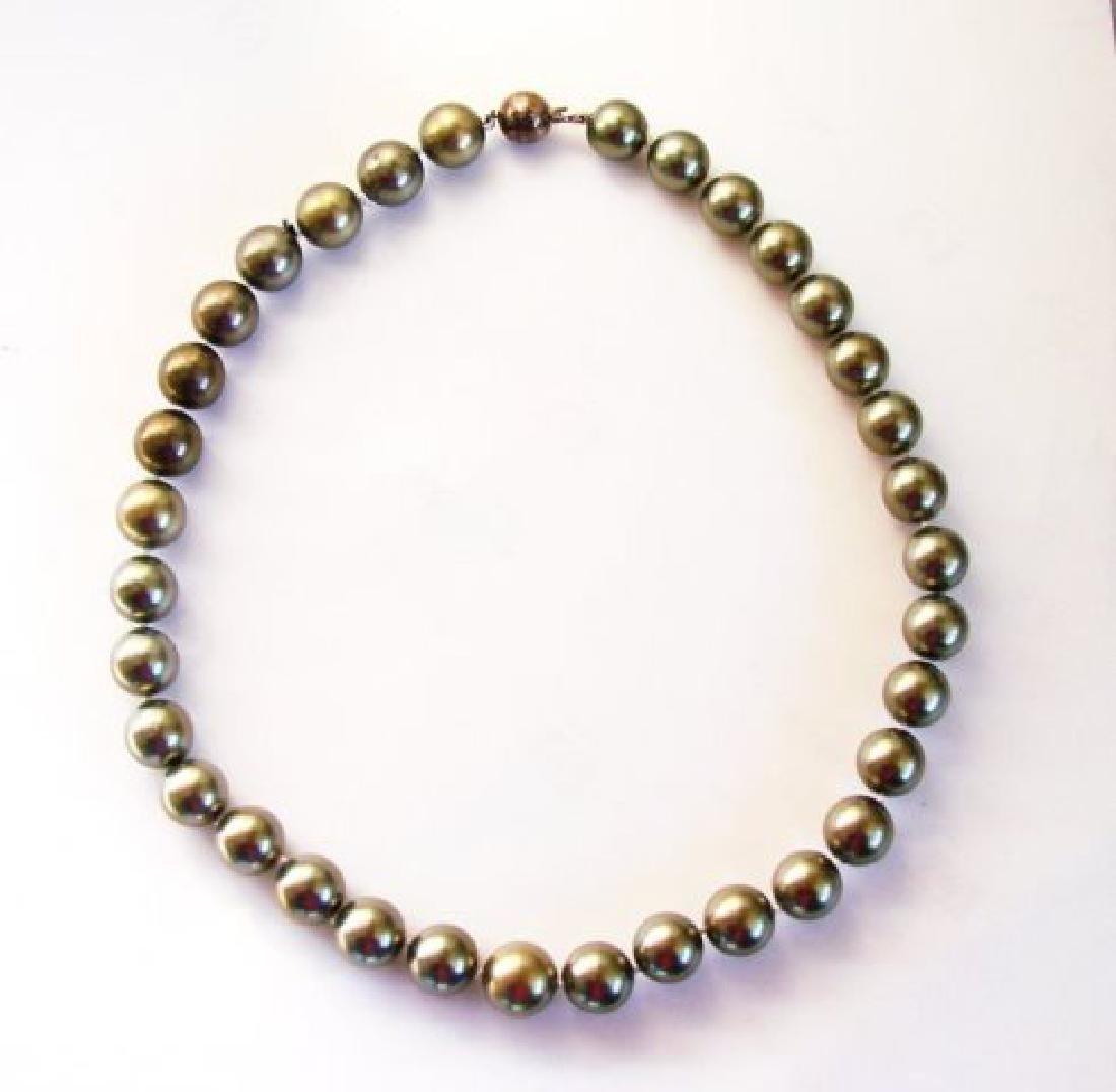 """Necklace Swarovski  Pearl 12mm SZ 16"""" - 2"""