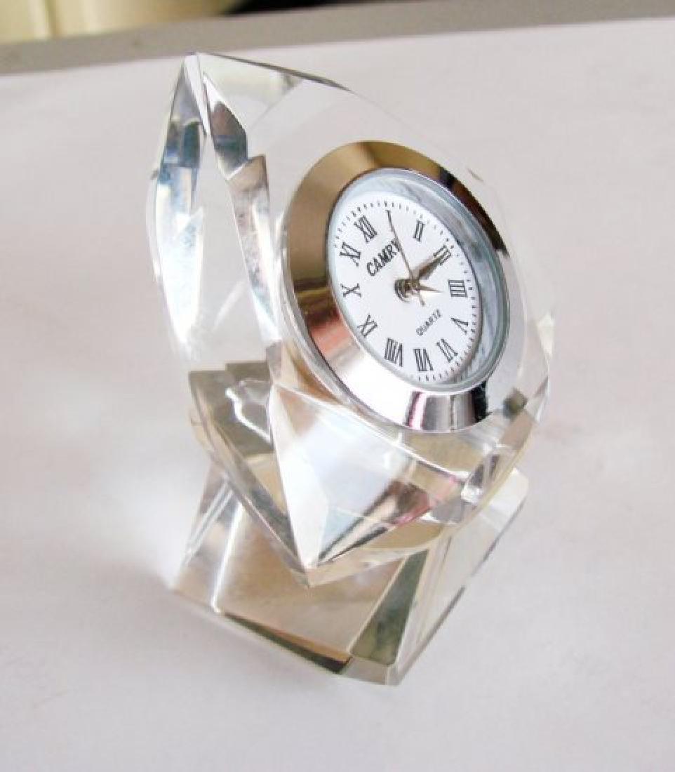 Camry Quartz Clock Crystal Platinum Overlay - 2