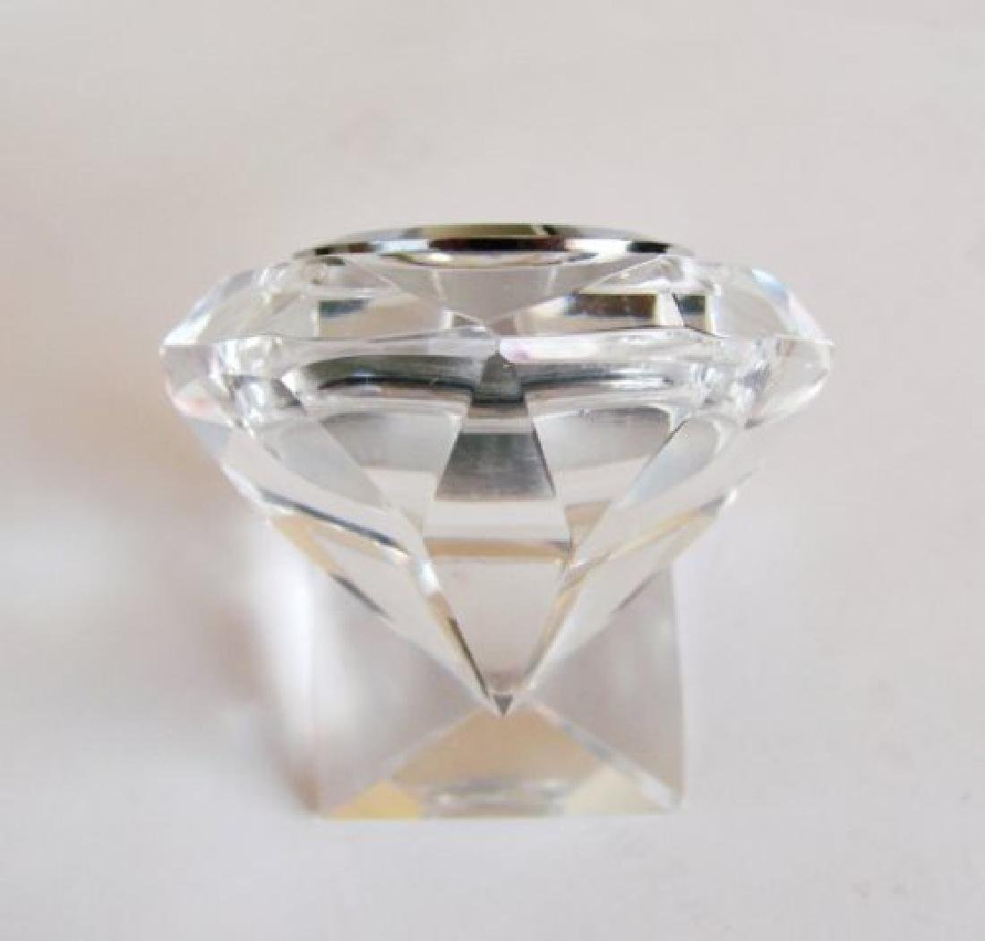 Camry Quartz Clock Crystal Platinum Overlay - 3