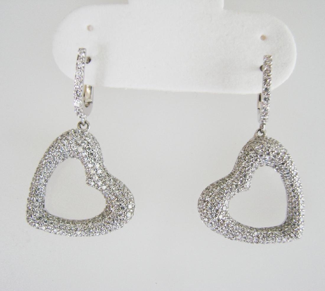 Creation Diamond Earrings 2.48Ct 18k W/G Overlay