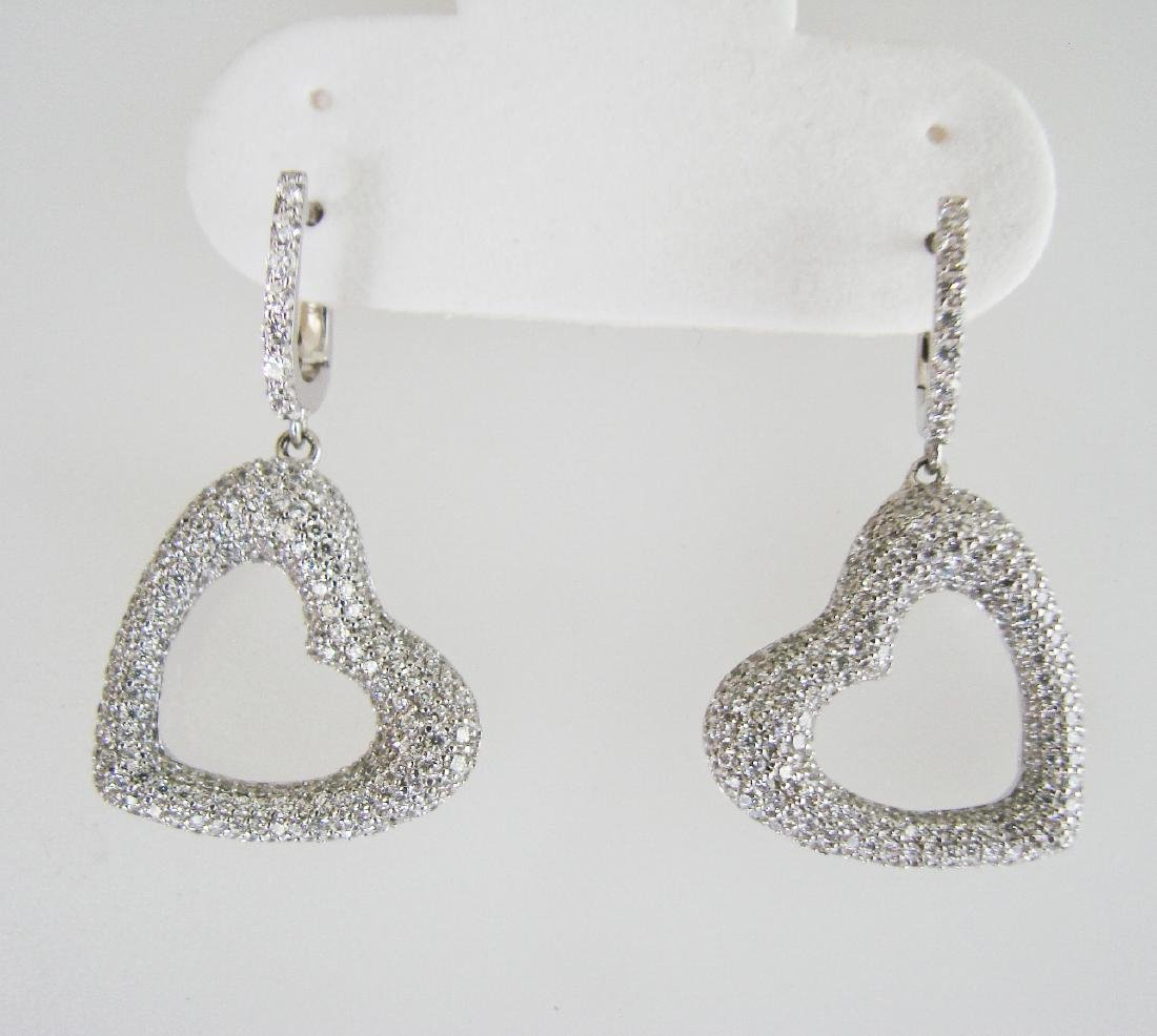 Creation Diamond Earrings 2.48Ct 18k W/G Overlay