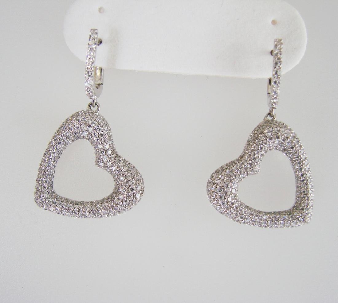 Creation Diamond Earrings 2.48Ct 18k W/G Overlay - 2