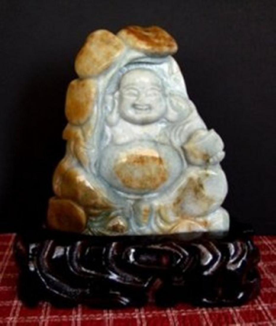 Jadeite Jade Buddhist Grade 'A' 19th Century