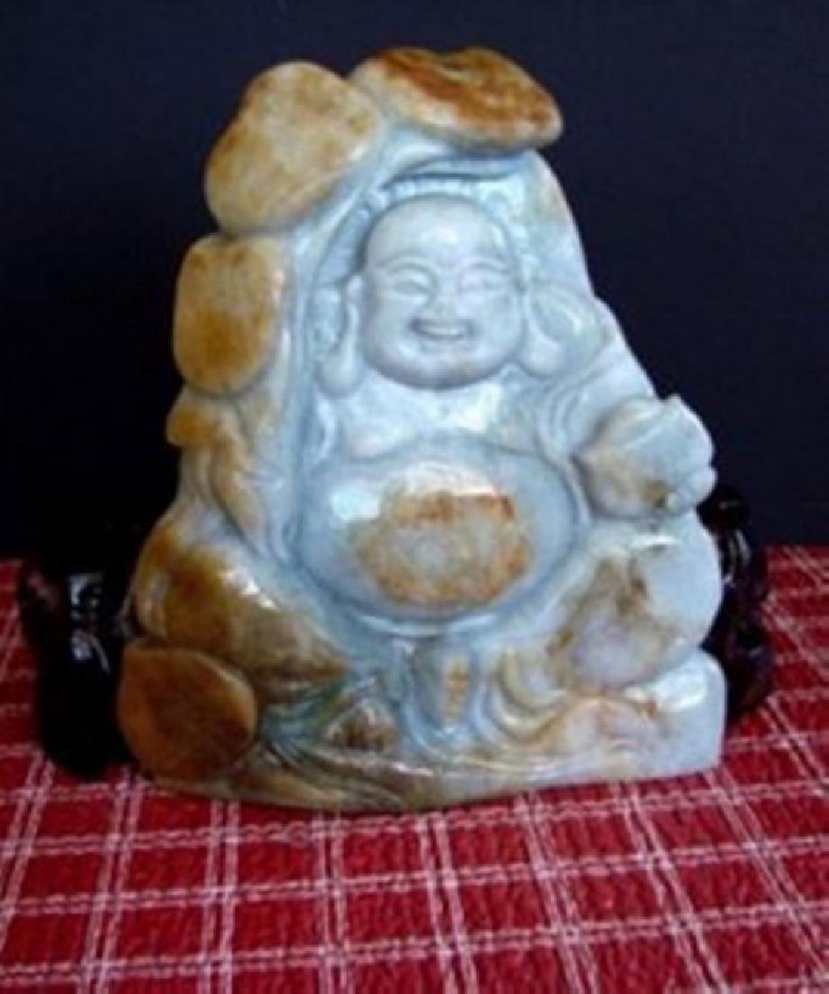 Jadeite Jade Buddhist Grade 'A' 19th Century - 2