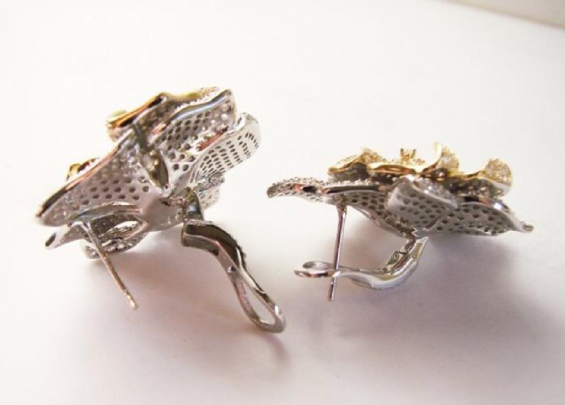 Creation Diamond Earring 9.60Ct 18k W-y/g Overlay - 2