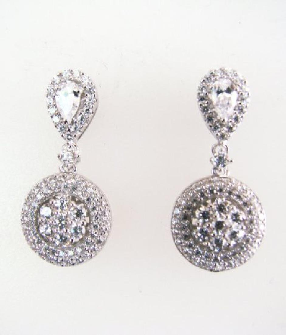 Creation Diamond Earrings 2.00Ct 18k W/g Overlay