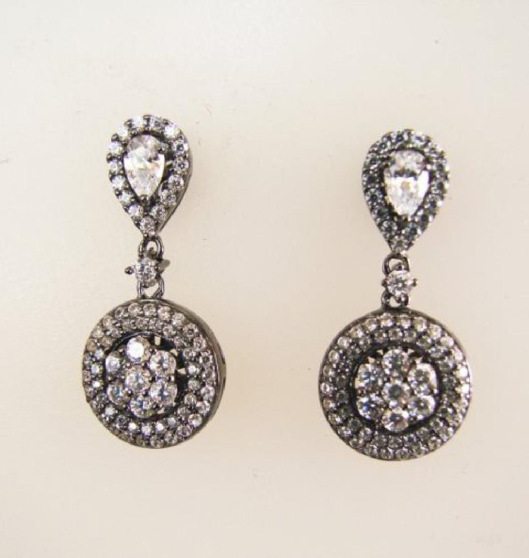 Creation Diamond Earring 2.00Ct 18k B/g Overlay