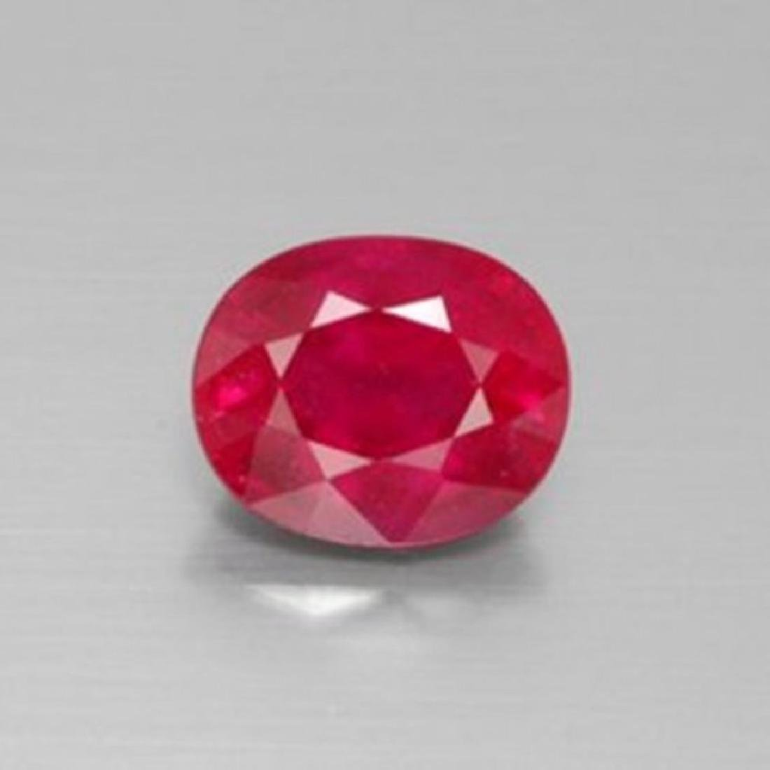 Loose Ruby Oval Fecet  1.89Ct 8x6.1x4.1mm