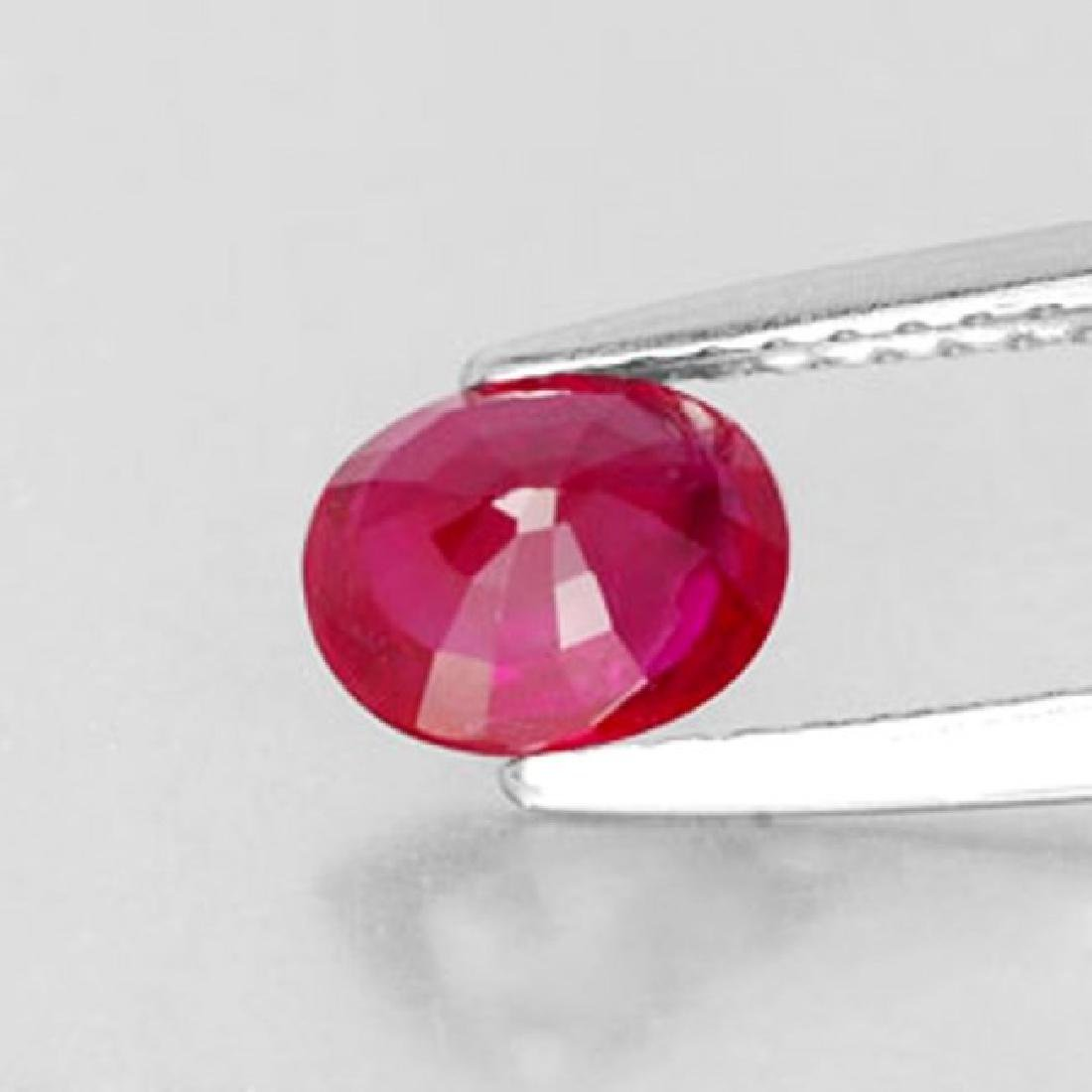 Loose Ruby Oval Fecet  1.89Ct 8x6.1x4.1mm - 2