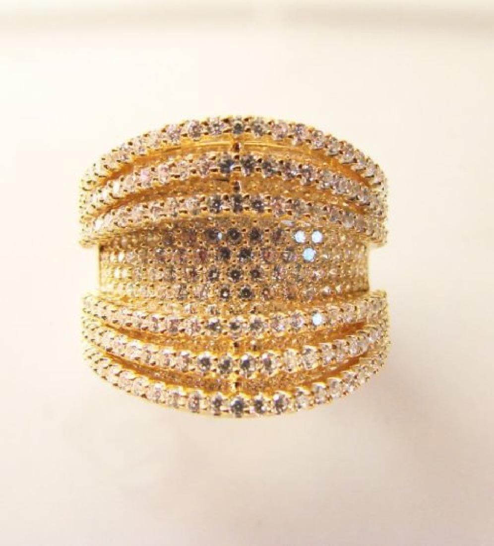 Creation Diamond Ring 5.50Ct 18k Y/g Overlay