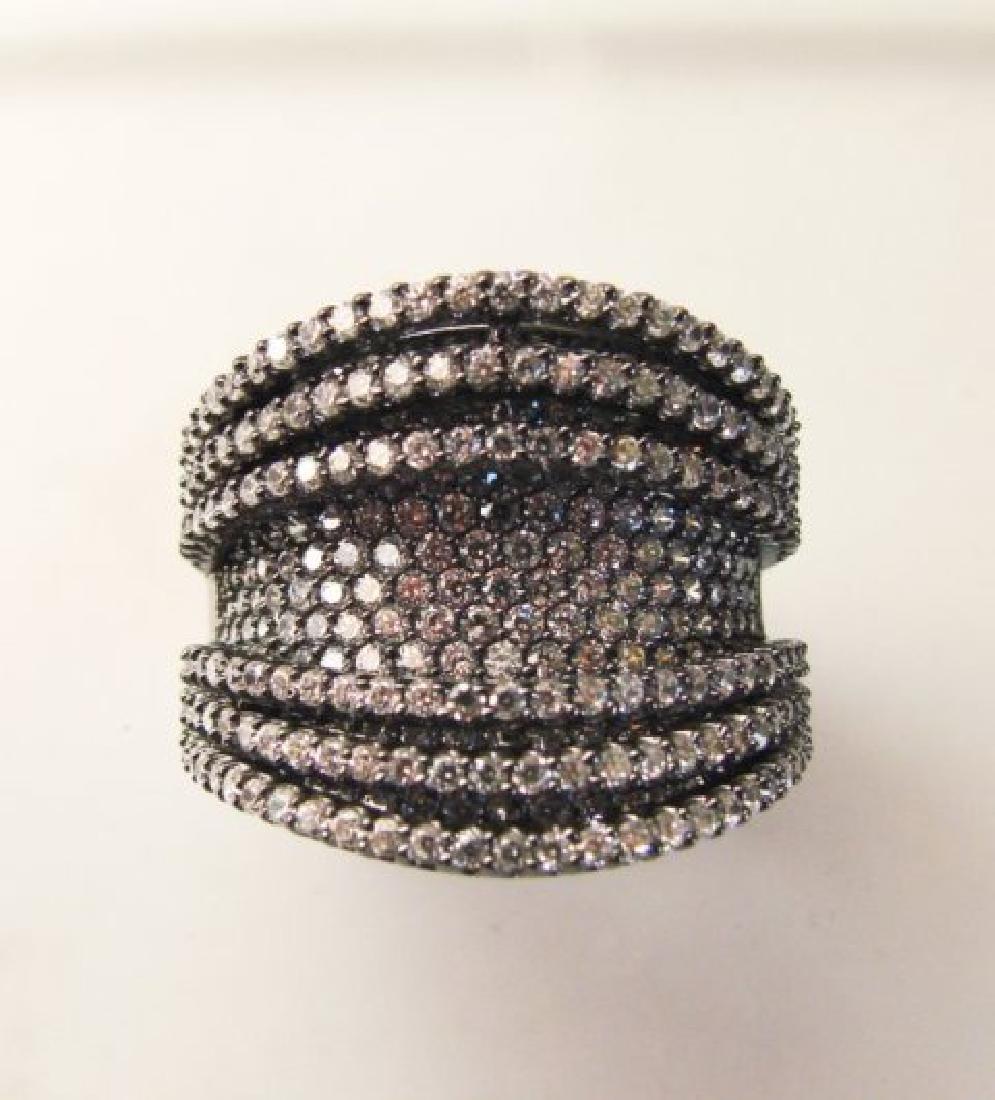 Creation Diamond Ring 5.50Ct 18k B/g Overlay