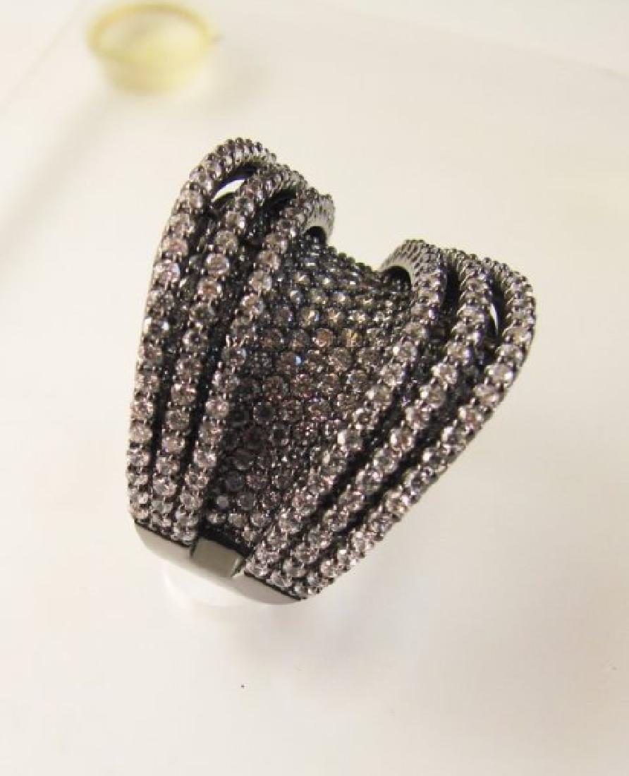 Creation Diamond Ring 5.50Ct 18k B/g Overlay - 2