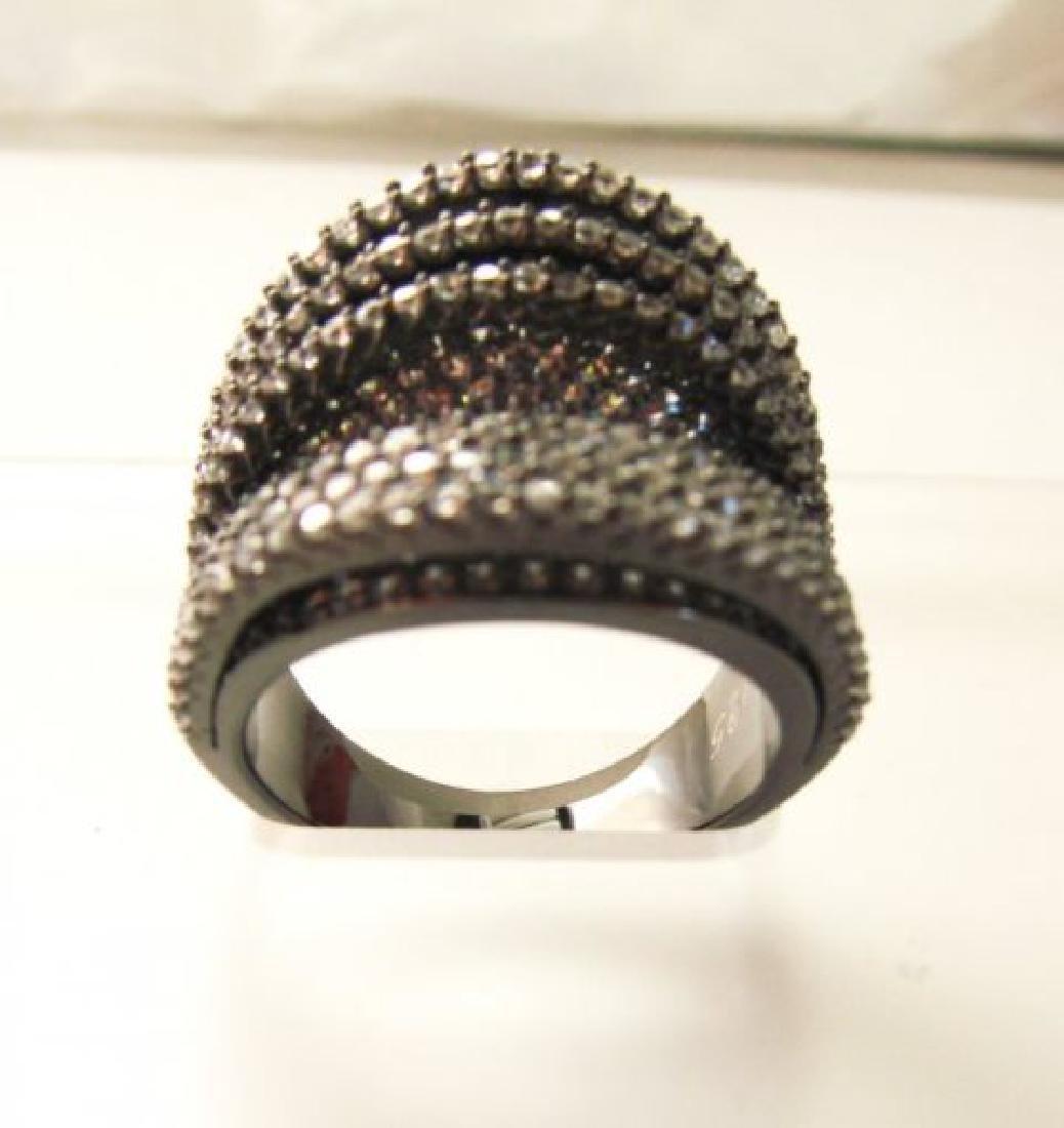 Creation Diamond Ring 5.50Ct 18k B/g Overlay - 3