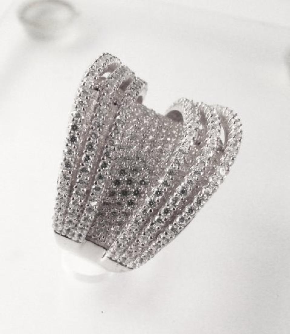 Creation Diamond Ring 5.50Ct 18k W/g Overlay