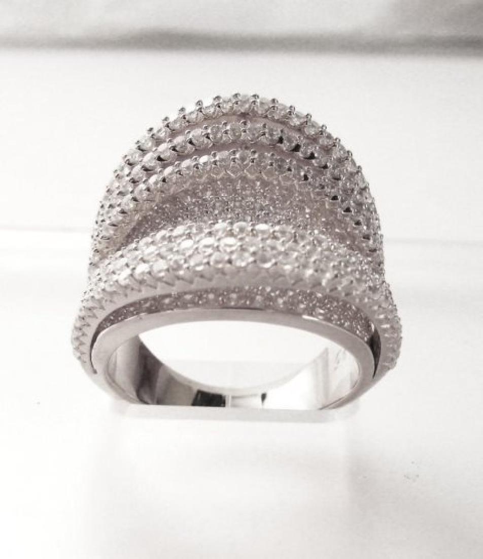 Creation Diamond Ring 5.50Ct 18k W/g Overlay - 2