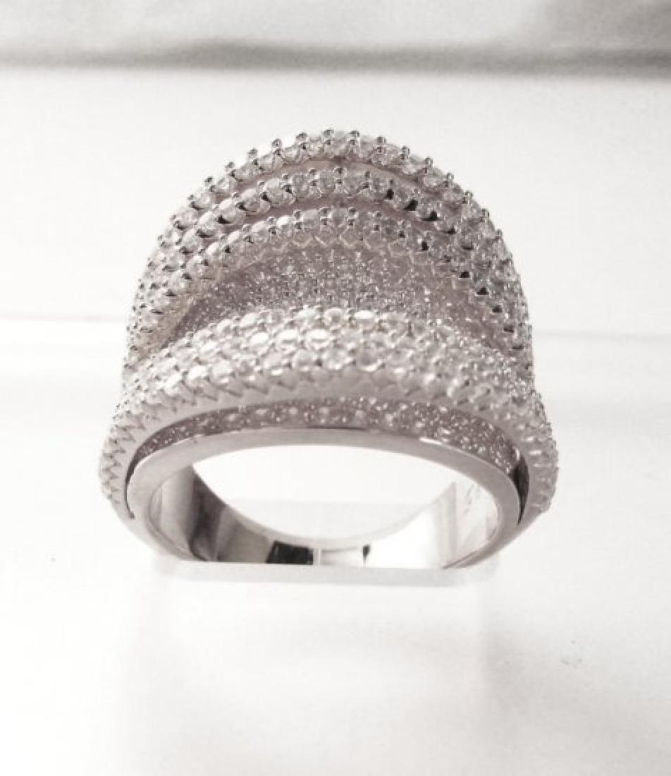 Creation Diamond Ring 5.50Ct 18k W/g Overlay - 3