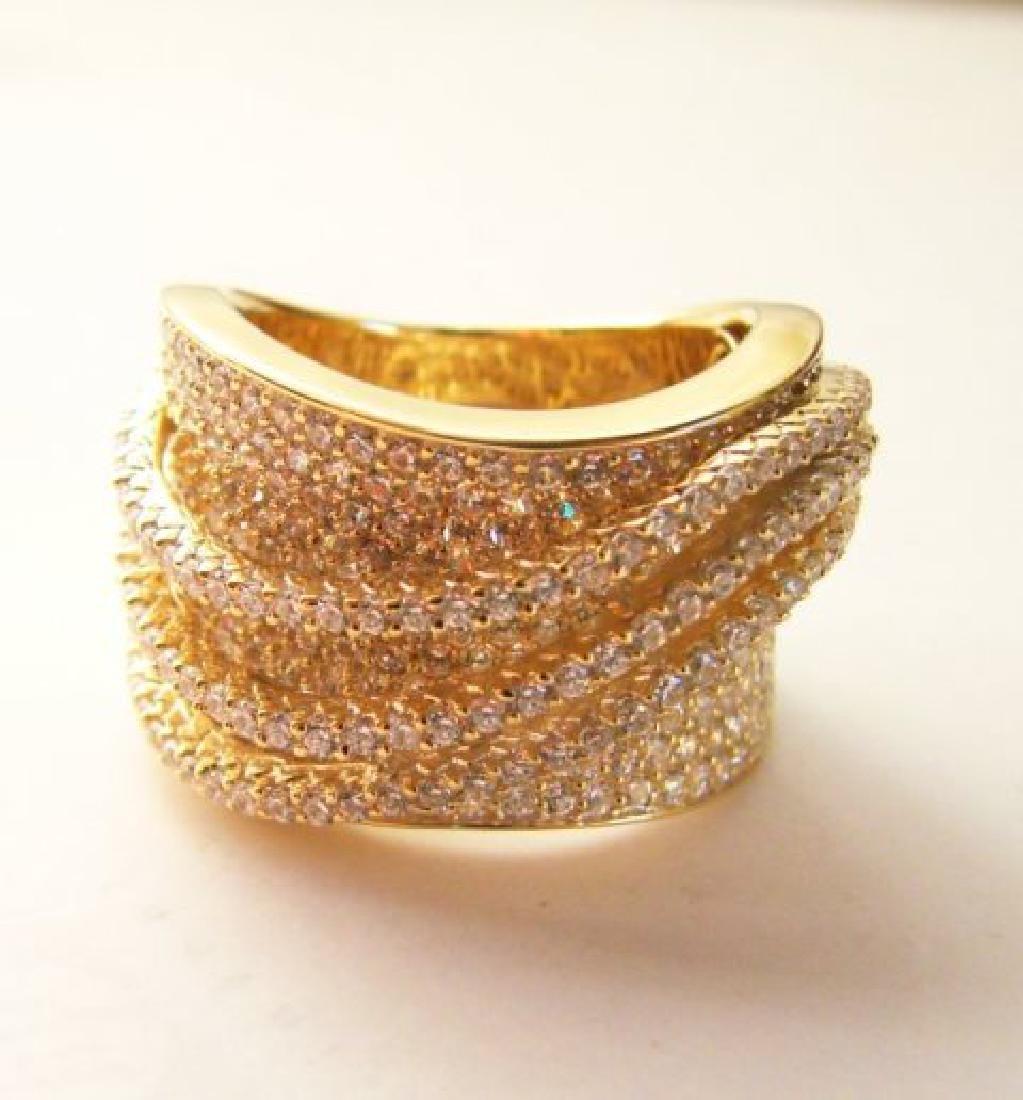 Creation Diamond Ring 5.68Ct 18k Y/g Overlay