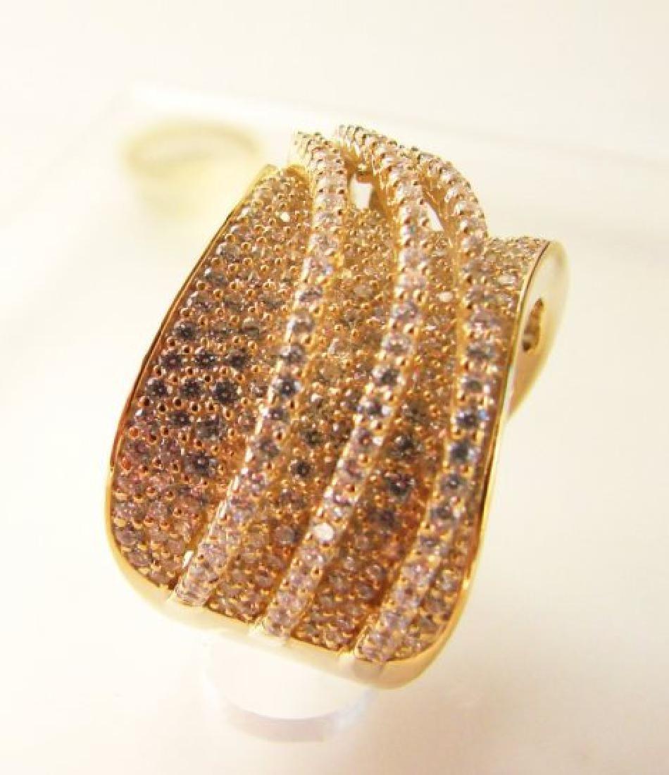 Creation Diamond Ring 5.68Ct 18k Y/g Overlay - 2