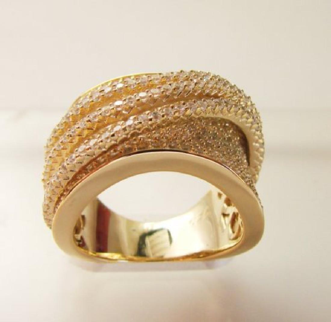 Creation Diamond Ring 5.68Ct 18k Y/g Overlay - 3
