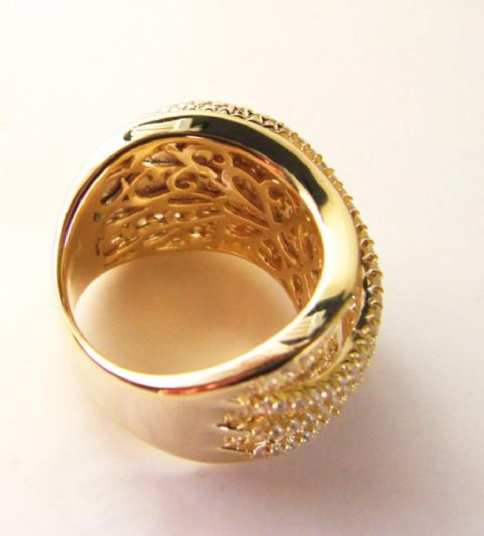 Creation Diamond Ring 5.68Ct 18k Y/g Overlay - 4