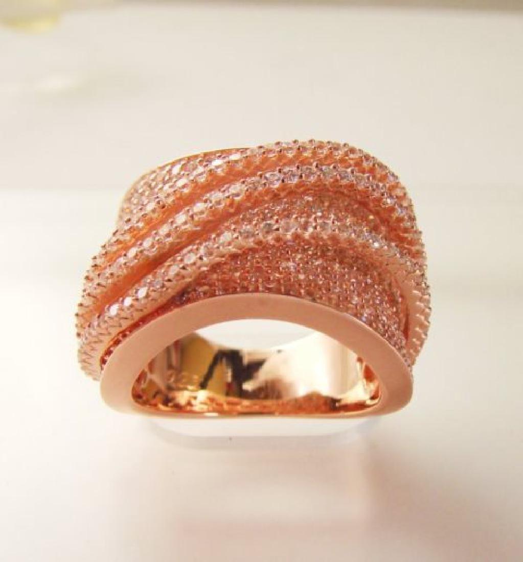 Creation Diamond Ring 5.68Ct 18k R/g Overlay - 3