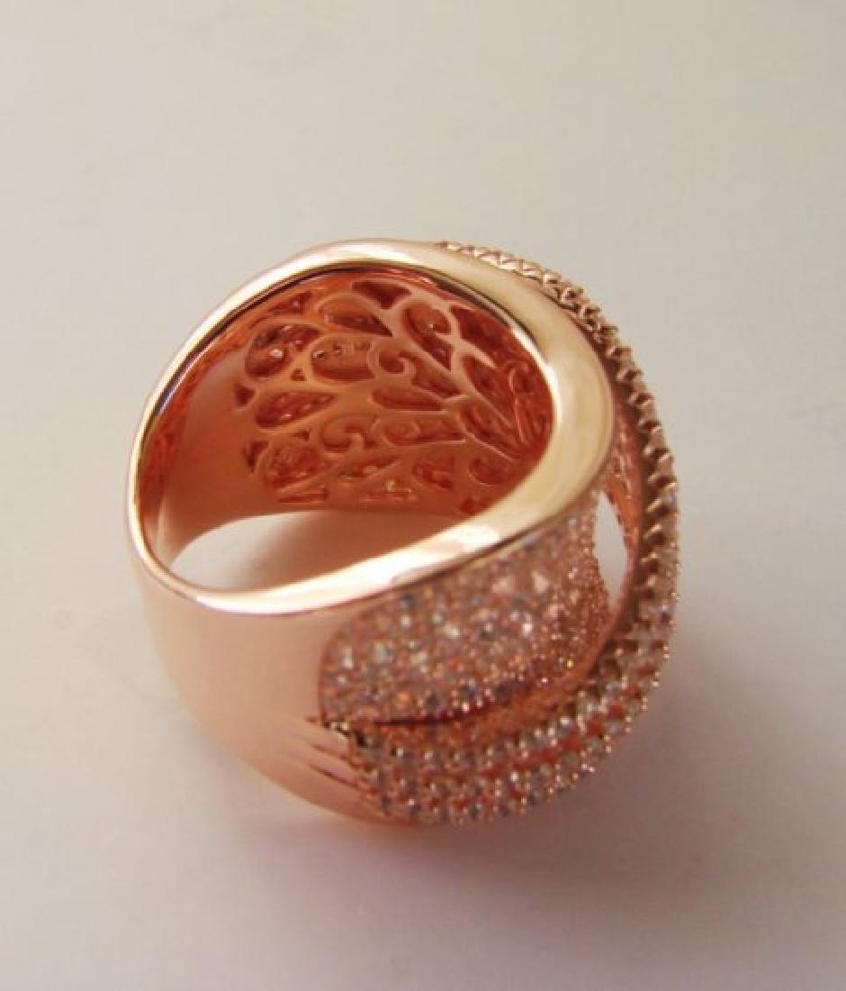 Creation Diamond Ring 5.68Ct 18k R/g Overlay - 4