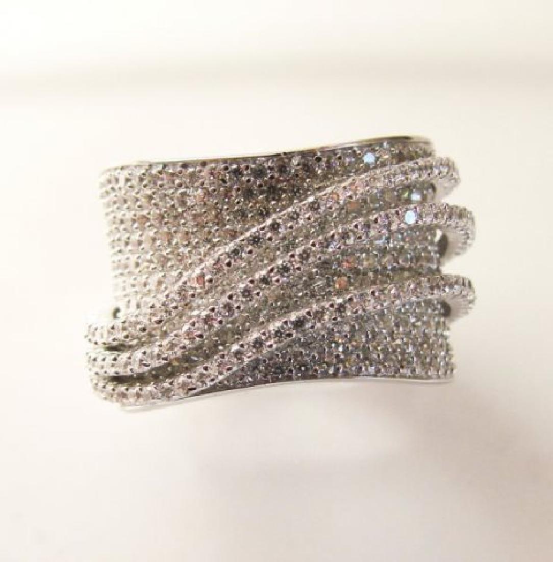 Creation Diamond Ring 5.68Ct 18k W/g Overlay