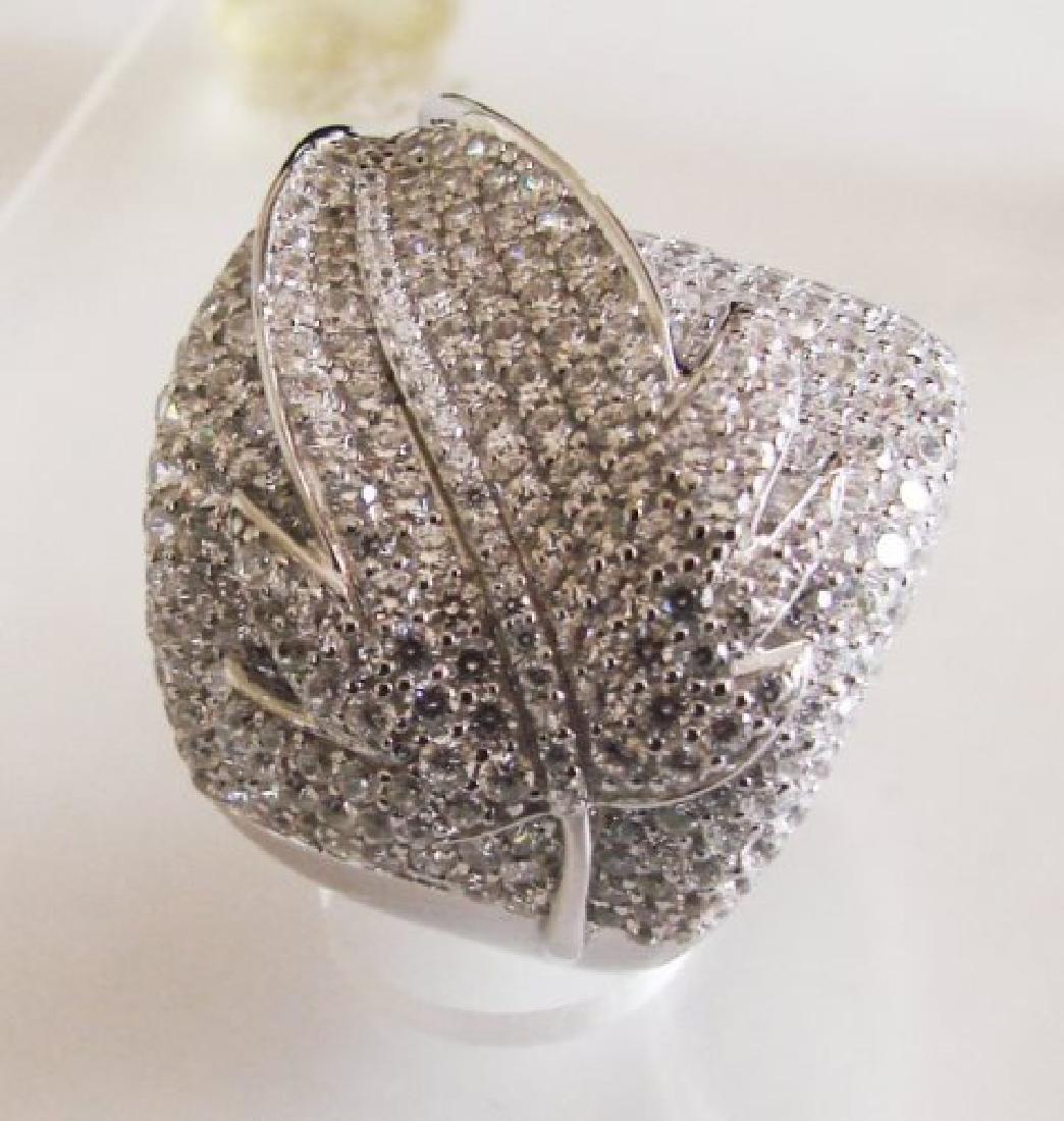 Creation Diamond Ring 6.80Ct 18k W/g Overlay