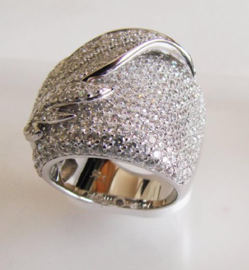 Creation Diamond Ring 6.80Ct 18k W/g Overlay - 2