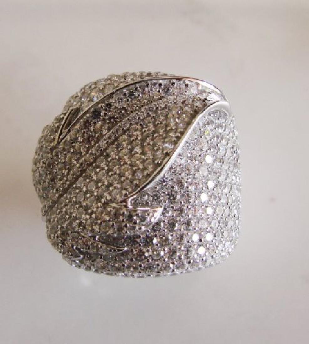 Creation Diamond Ring 6.80Ct 18k W/g Overlay - 3
