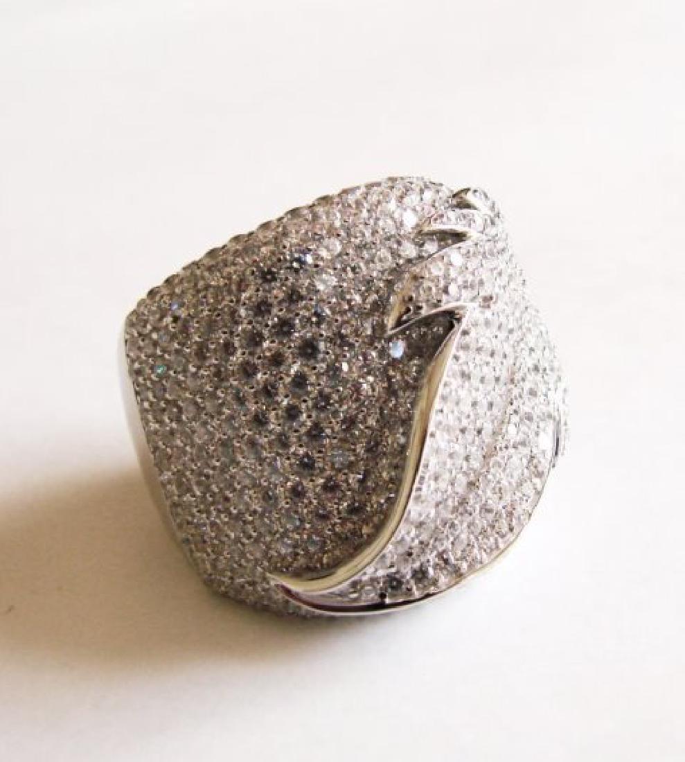 Creation Diamond Ring 6.80Ct 18k W/g Overlay - 4