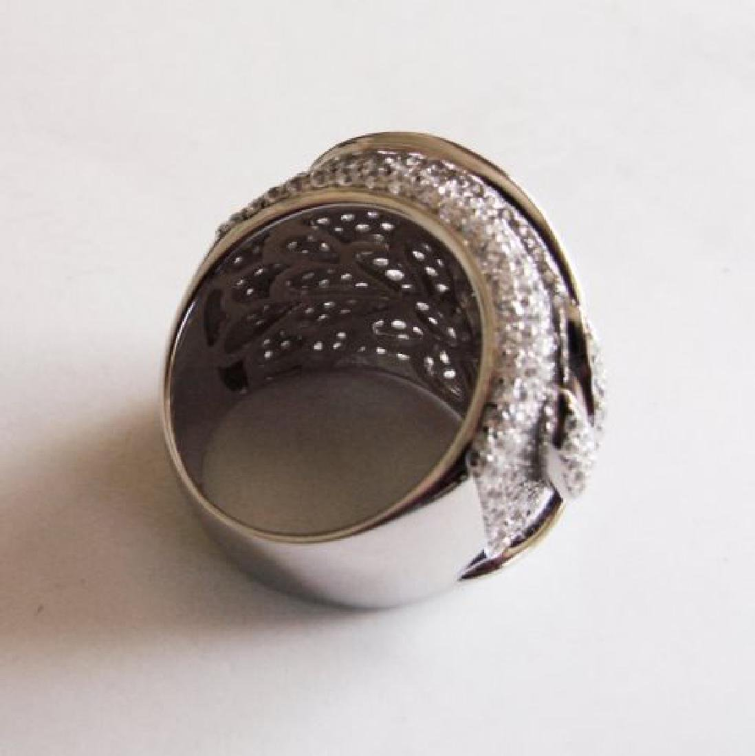 Creation Diamond Ring 6.80Ct 18k W/g Overlay - 5