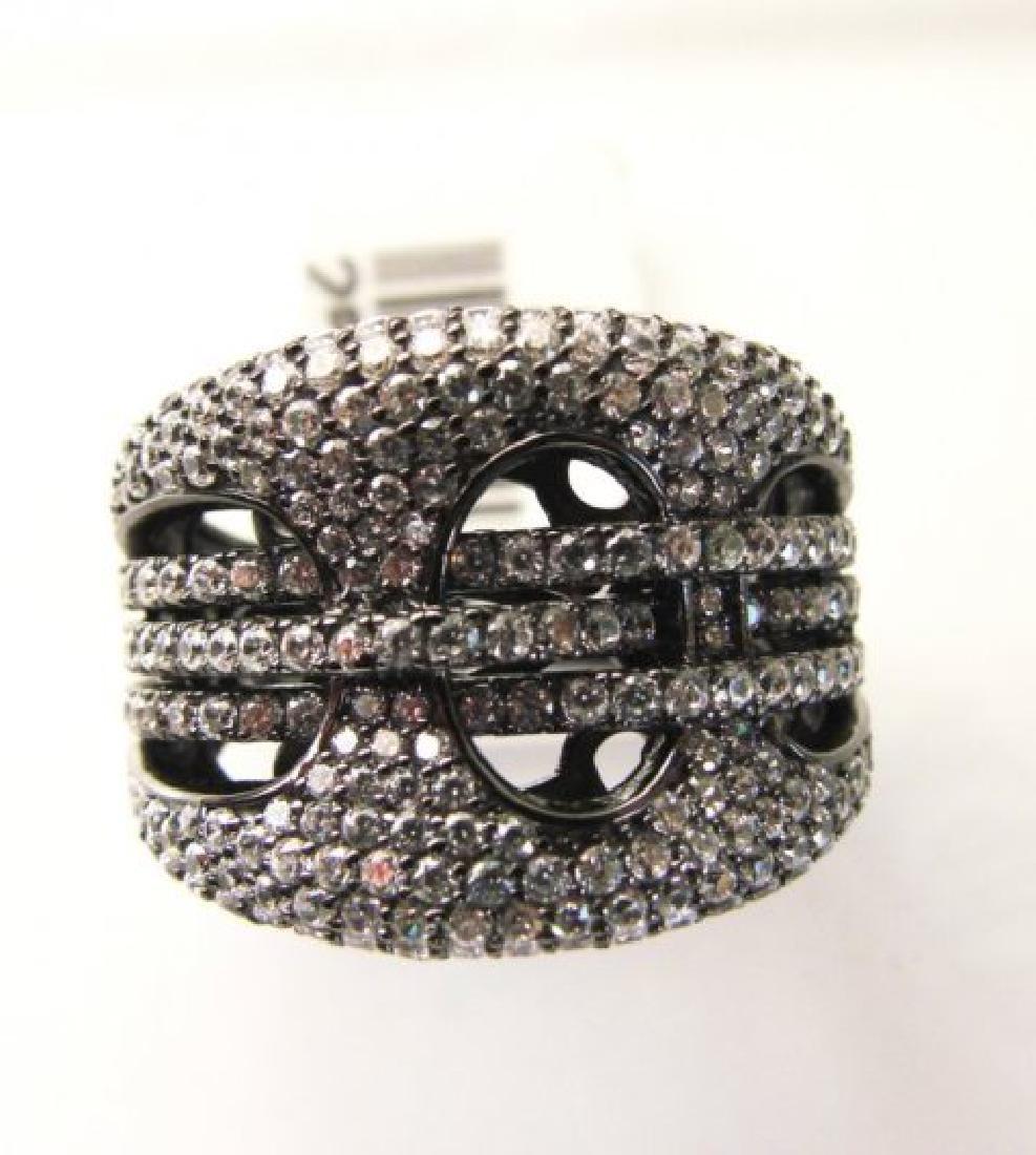 Creation Diamond Ring 2.50Ct 18k B/g Overlay