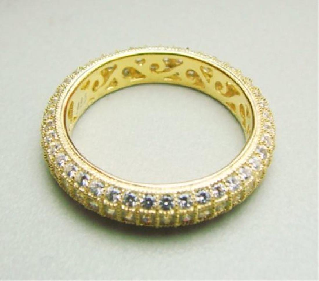 Diamonds Creation Eternity Ring 2.00Ct 18kY/g Overlay