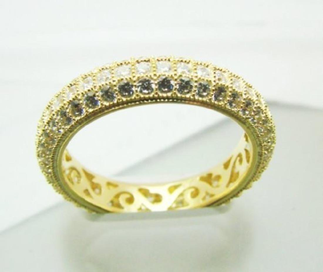 Diamonds Creation Eternity Ring 2.00Ct 18kY/g Overlay - 2