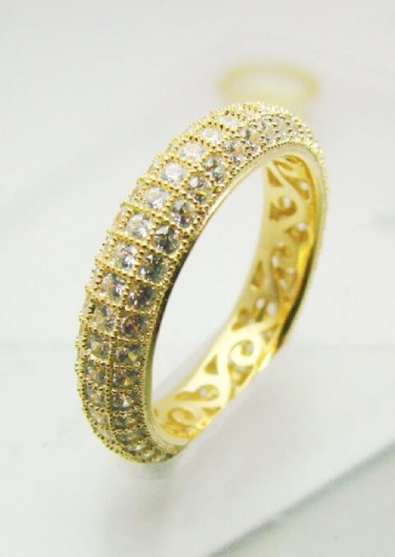 Diamonds Creation Eternity Ring 2.00Ct 18kY/g Overlay - 3
