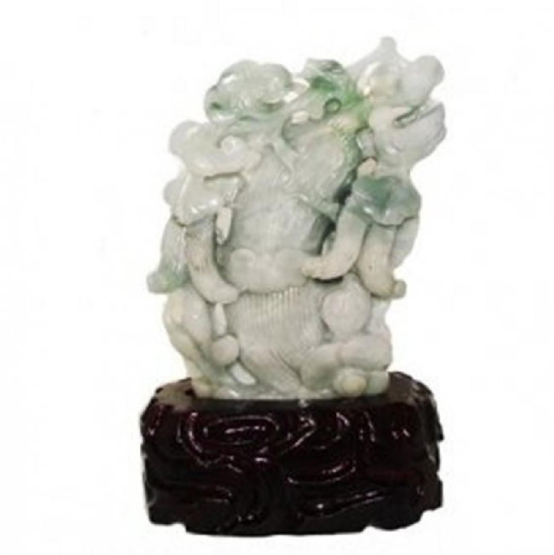 19th Century Jade Hand Carved Squash Weight: 1.7 pound