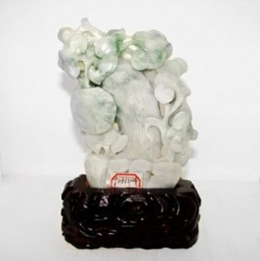 19th Century Jade Hand Carved Squash Weight: 1.7 pound - 2
