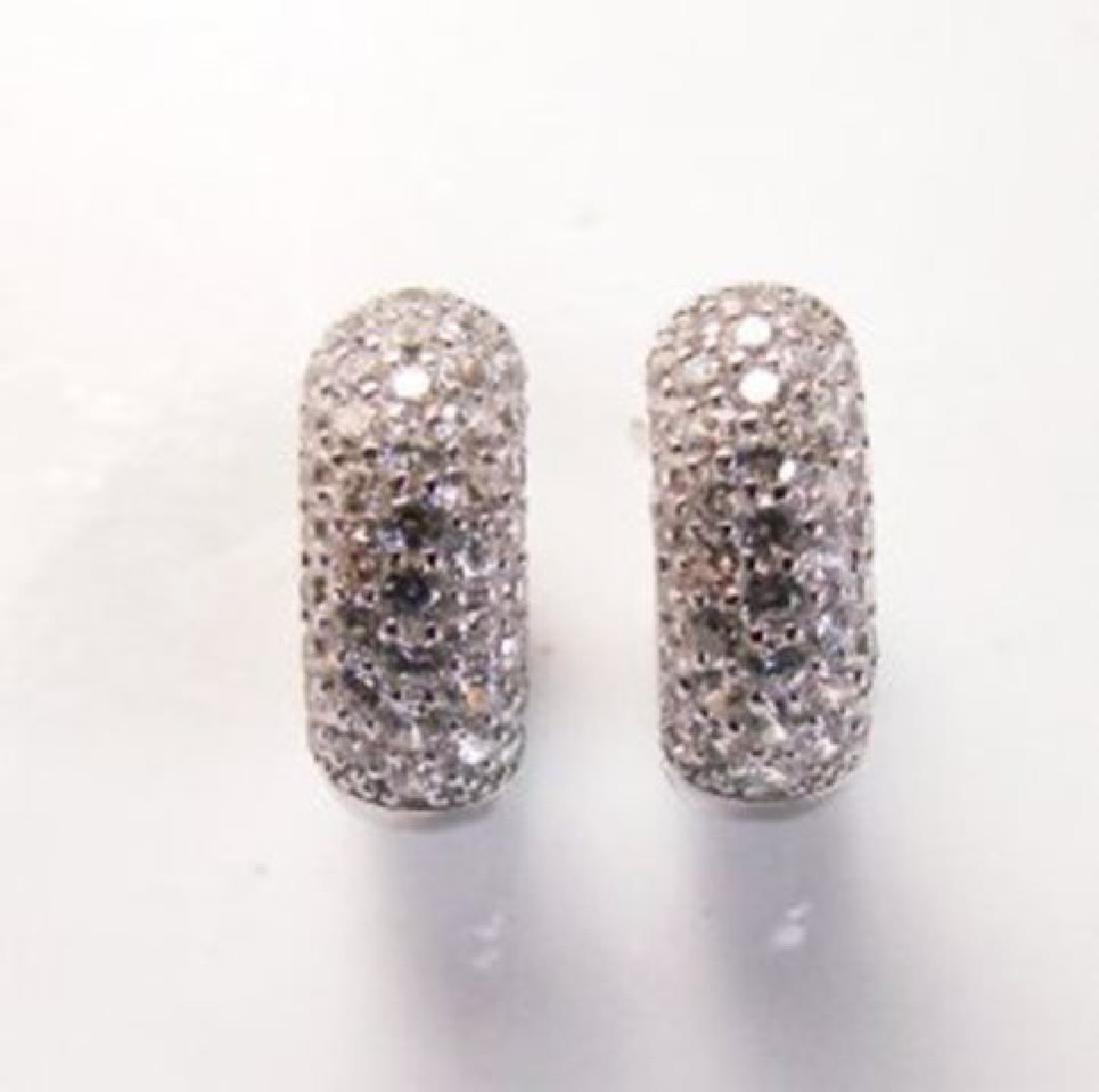 Creation Diamond Earrings 2.00Ct 18k W/G Overlay