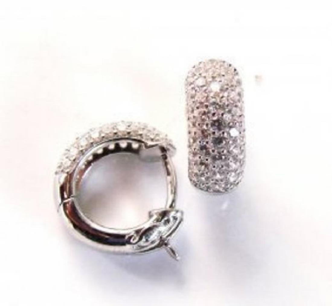 Creation Diamond Earrings 2.00Ct 18k W/G Overlay - 2