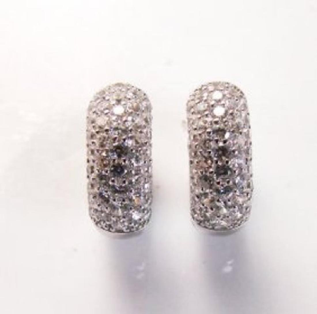 Creation Diamond Earrings 2.00Ct 18k W/G Overlay - 3