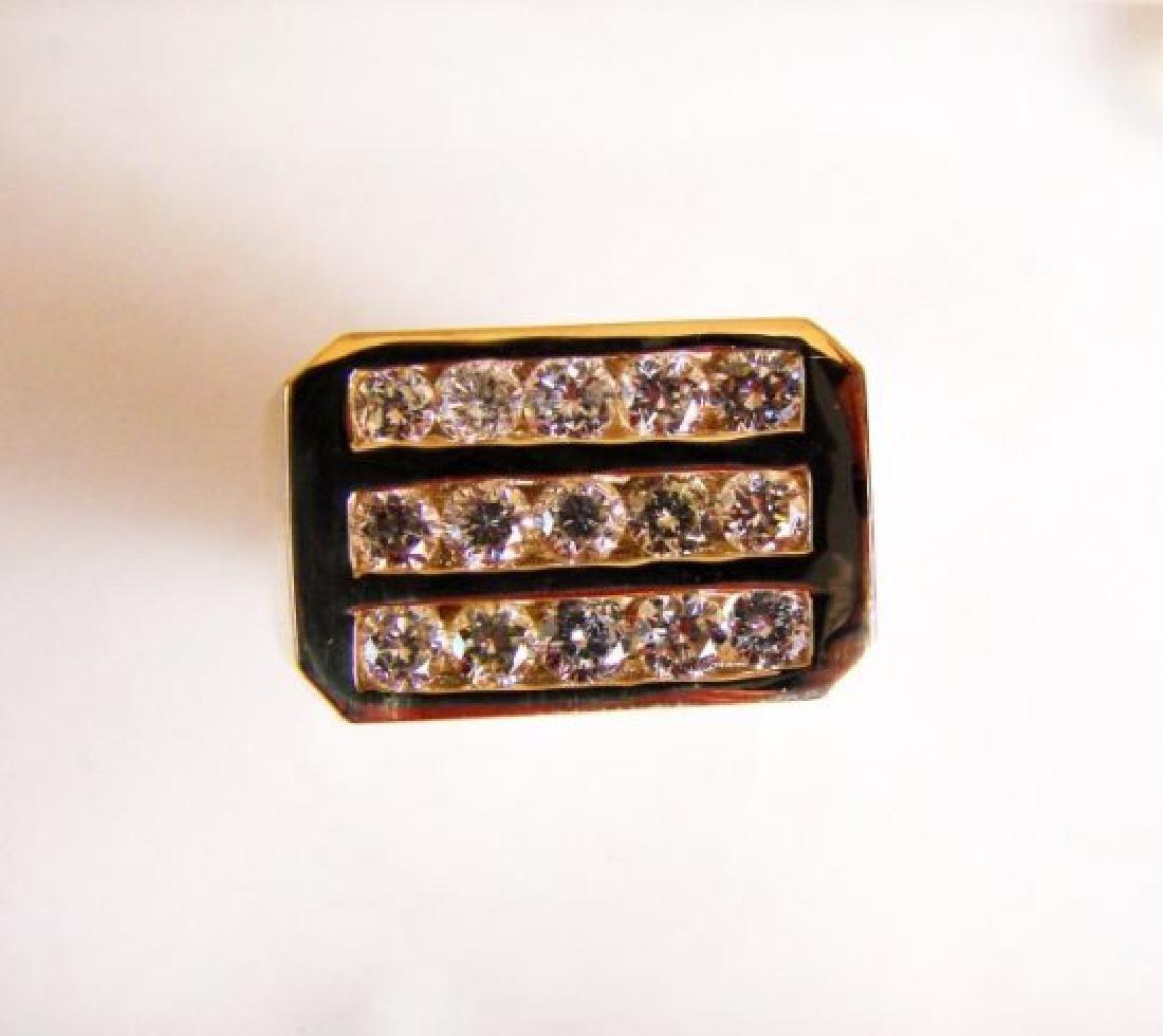 Men's Diamond Ring 2.26 Carat 14k Y/G