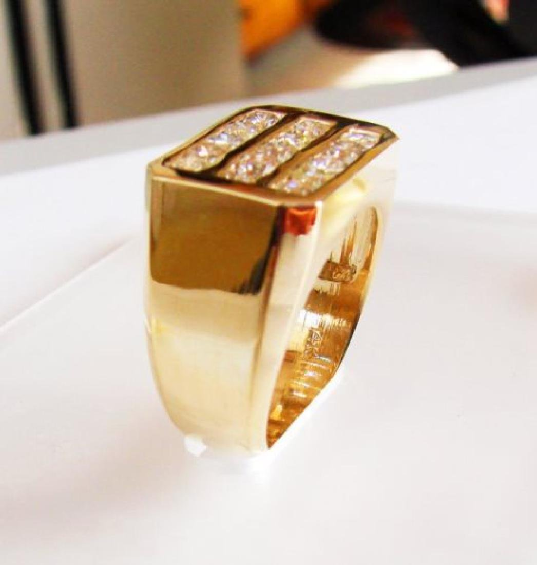 Men's Diamond Ring 2.26 Carat 14k Y/G - 2