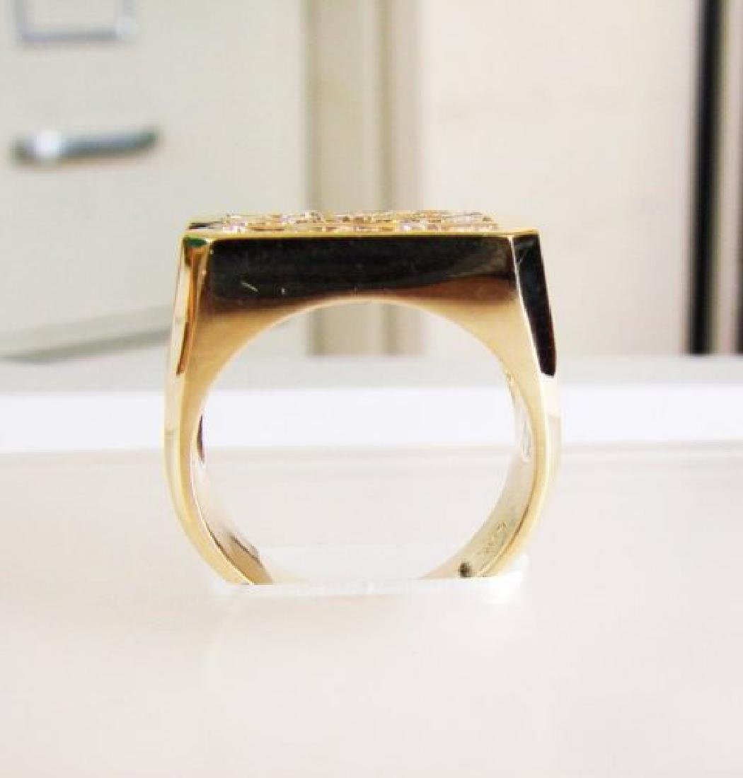 Men's Diamond Ring 2.26 Carat 14k Y/G - 3
