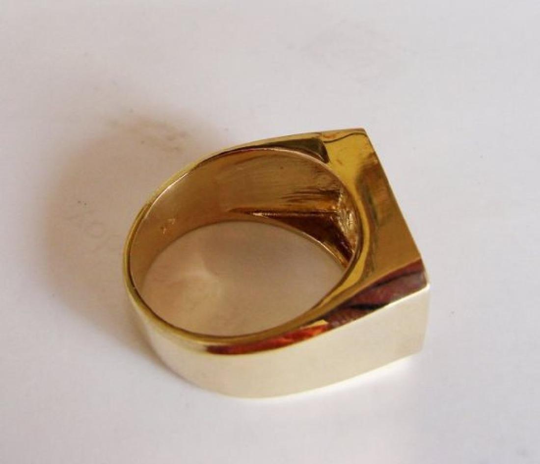 Men's Diamond Ring 2.26 Carat 14k Y/G - 4